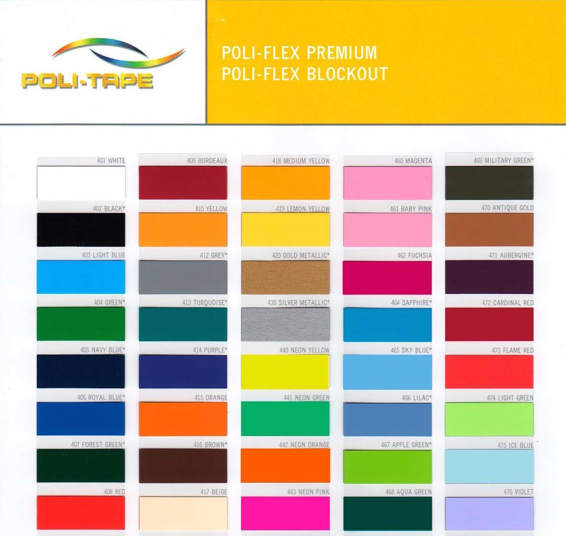 Termosaldabile colori fluo flex politape 30x50 cm for Colori fluo