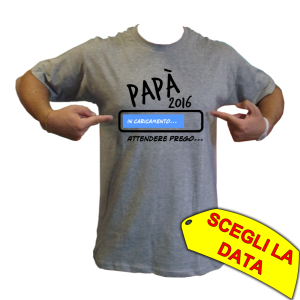 maglietta futuro papà bimbo maschietto
