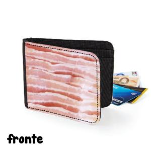 fronte portafoglio bacon pancetta gadget cibo cuoco chef regalo