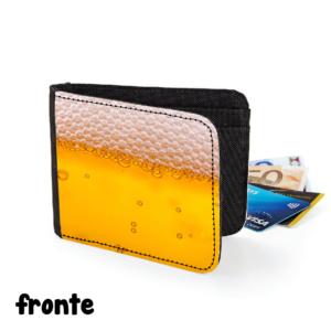 fronte portafoglio birra beer ubriaco brillo alcool gadget regalo