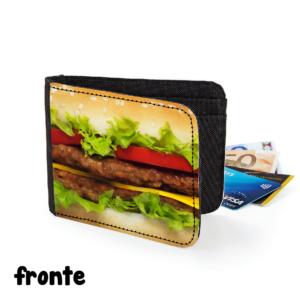 fronte portafoglio hamburger gadget cibo cuoco chef regalo