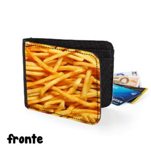 fronte portafoglio patatine fritte chips potato gadget cibo cuoco chef regalo