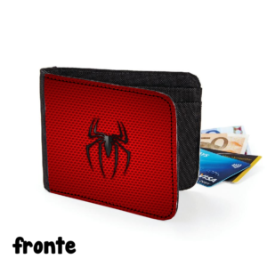 fronte portafoglio spiderman uomo ragno originale gadget figo comodo regalo