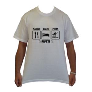 maglietta t-shirt pesca mangia dormi pesca ripeti loghi pescatore