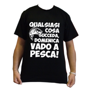 maglietta t-shirt pescatori pesca domenica vado a pesca
