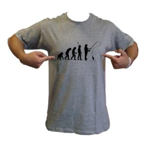 t-shirt maglietta evoluzione pesca pescatore
