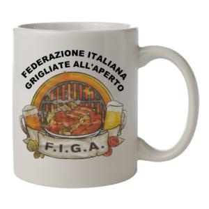 tazza figa federazione italiana grigliate all'aperto gadget f.i.g.a.