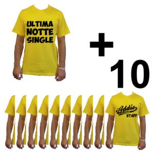 KIT maglietta t-shirt addio al celibato modello sposo ULTIMA NOTTE SINGLE idea gruppo staff team 10