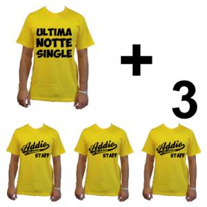 KIT maglietta t-shirt addio al celibato modello sposo ULTIMA NOTTE SINGLE idea gruppo staff team 3