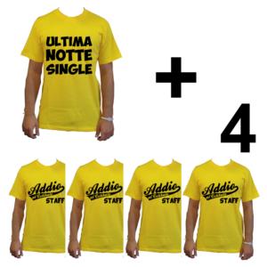 KIT maglietta t-shirt addio al celibato modello sposo ULTIMA NOTTE SINGLE idea gruppo staff team 4