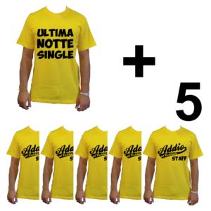 KIT maglietta t-shirt addio al celibato modello sposo ULTIMA NOTTE SINGLE idea gruppo staff team 5