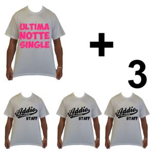 KIT maglietta t-shirt magliette addio al nubilato modello la sposa ultima notte single idea gruppo staff 3