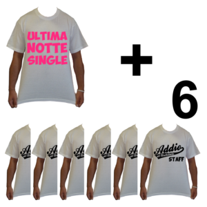 KIT maglietta t-shirt magliette addio al nubilato modello la sposa ultima notte single idea gruppo staff 6