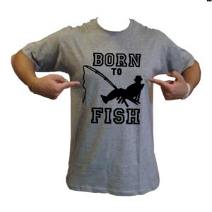 maglietta t-shirt pesca born to fish loghi pescatore