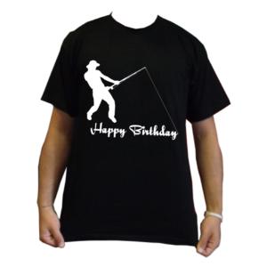 maglietta t-shirt pescatori compleanno pesca happy birthday anni auguri maglia