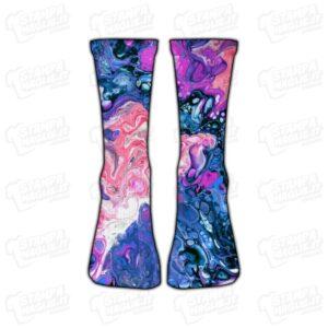 Calzino Calzettino personalizzato Astratto spazio abstract space colorato simpatico divertente regalo moda stampato idea regalo gift sorpresa calza piede foot foto personale