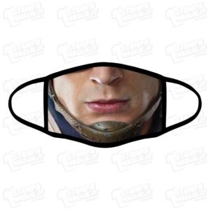 Mascherina Capitan America lavabile personalizzata bordo nero sublimatico stampata protezione covid divertente personaggio famoso film cartoni marvel viso faccia