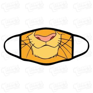Mascherina Leone Lion The lion king il re leone Simba bordo nero regalo bordo nero sorpresa divertente simpatica lavabile cartone animazione bambini bambino bambina personaggio covid