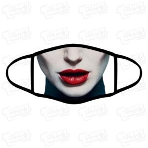 Mascherina Maleficent Malefica bordo nero lavabile personalizzata sublimatico stampata protezione covid divertente personaggio famoso film cartoni la bella addormentata nel bosco viso faccia