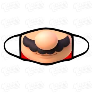 Mascherina Super Mario lavabile bordo nero simpatica divertente personaggio videogioco player play game gamer anni90 anni80 nintendo playstation covid19 coronavirus viso bocca