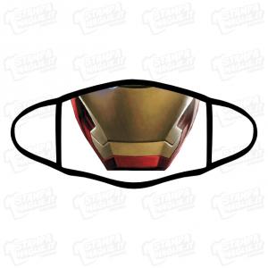 Mascherina ironman bordo nero iron man personalizzata covid19 lavabile film avenger avengers marvel personaggi supereroi tony stark viso maschera