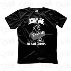 T-shirt Come in to the dark maglietta simpatica star wars divertente comica comic film tv logo storm trooper