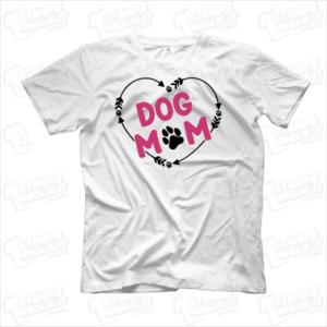 T-shirt Mom dog simpatica carina divertente maglia mamma cane cucciolo amici a quattrozampe zampette cagnolino dog bambini bambino peloso pelosetto amore cuore