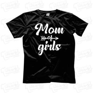 T-shirt Mom of girls mamma di bambine regalo festa della mamma mother mother's day regalo last minute 24 ore