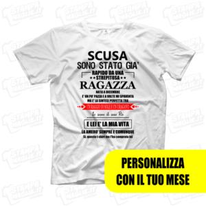 T-shirt Scusa sono stato già rapito da una ragazza maglietta divertente scherzo di coppia fidanzato fidanzata amore love scritte boy regalo
