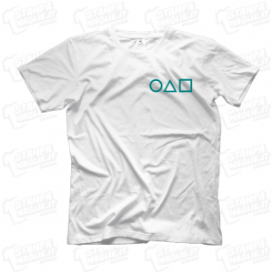 T-shirt Squid Game serie tv netflix maglia maglietta personaggi simboli segni Squidgame horror terrore splatter sangue guardia soldier mask logo 24 ore veloce