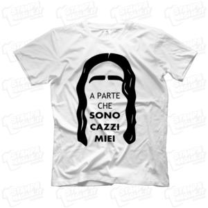 T-shirt maglia maglietta A parte che sono cazzi miei Elio Elio e le storie tese LoL lol chi ride è fuori fedez Amazon Prime meme programma tv risata ridere Lillo