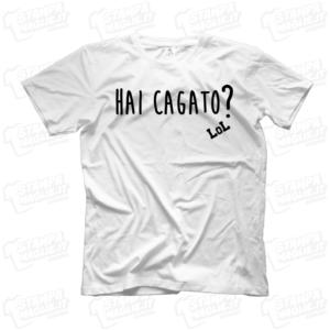 T-shirt maglia maglietta Hai cagato Frank Matano divertente LoL lol chi ride è fuori fedez Amazon Prime meme programma tv risata ridere Lillo