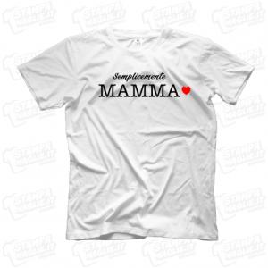 T-shirt maglia maglietta Semplicemente Mamma regalo festa della mamma cuori bambini mother day regalo simpatico mother migliore del monto last minute 24 ore figlio unico