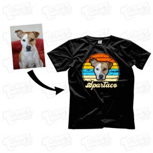 T-shirt maglia maglietta vintage con foto personalizzata cane gatto animale domestico amico peloso animal lover dog cat cani gatti nomi amici a quattro zampe regalo last 24 ore minute