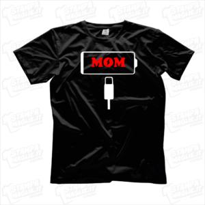 Tshirt maglia maglietta Batteria scarica mamma scarica low battery regalo festa della mamma