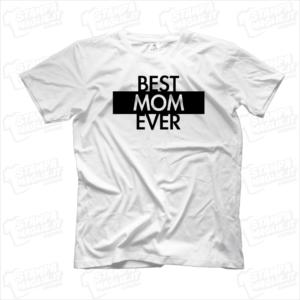 Tshirt maglia maglietta Best mom ever regalo festa della mamma
