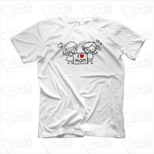 Tshirt maglia maglietta I love mom bimba e bimbo regalo festa della mamma