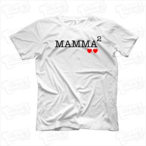 Tshirt maglia maglietta Mamma alla seconda regalo festa della mamma cuori bambini
