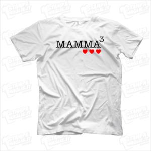 Tshirt maglia maglietta Mamma alla terza regalo festa della mamma cuori bambini