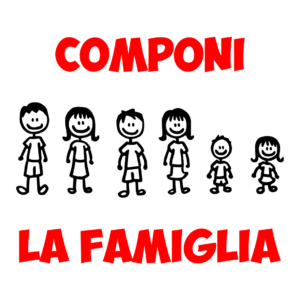 famiglia stilizzata adesivo da auto