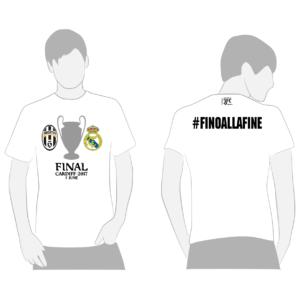 fino alla fine cardiff 3 giugno 2017 finale juventus real madrid t-shirt maglia maglietta