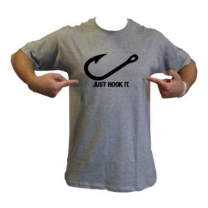 just hook it nike amo just do it pesca maglietta t-shirt maglia