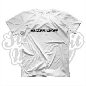 maglietta t-shirt abcdefuckoff fuck off