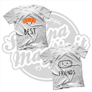 maglietta t-shirt best friends sushi riso pesce