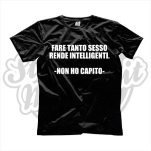 maglietta t-shirt fare tanto sesso rende intelligenti non ho capito