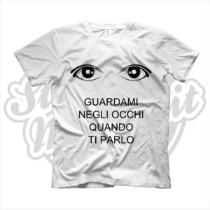 maglietta t-shirt maglia tshirt guardami negl occhi quando ti parlo tettona