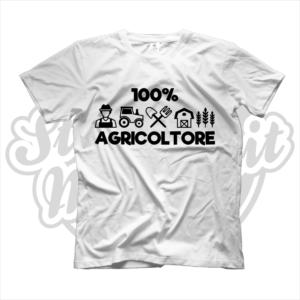 maglietta t-shirt maglia tshirt idea regalo lavoro 100% agricoltore agricoltrice contadino