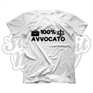maglietta t-shirt maglia tshirt idea regalo lavoro 100% avvocato
