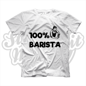 maglietta t-shirt maglia tshirt idea regalo lavoro 100% barista