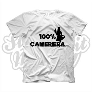 maglietta t-shirt maglia tshirt idea regalo lavoro 100% cameriera